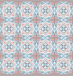 abstract floral seamless pattern geometric asian vector image