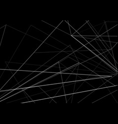 Abstract shape on black color background vector