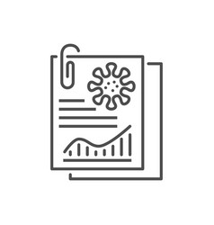 analysis related thin line icon vector image