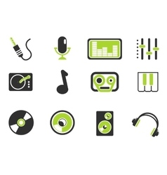 Audio and music simple icons vector image