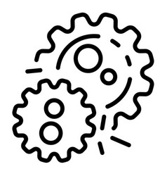 Bacterium multiplies icon outline style vector