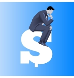Big money business concept vector image