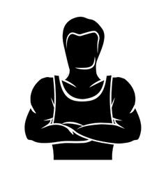 Bodybuilding muscle design vector