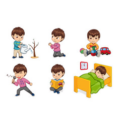 boy lifestyle and leisure set vector image