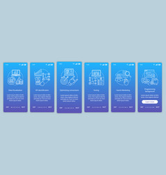 Business courses onboarding mobile app page vector