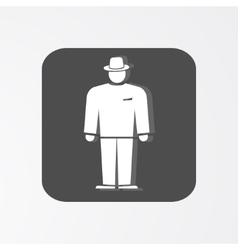 Businessman web icon Boss simbol White vector image