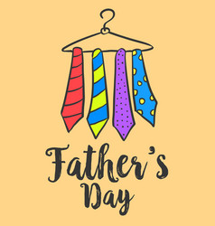 card with tie for father day vector image
