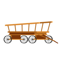 Carriage coach vintage transport with old vector
