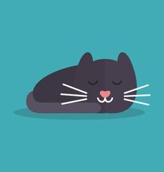 Cat is sleeping vector image