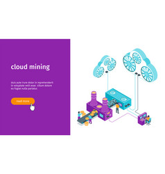 cloud mining banner vector image