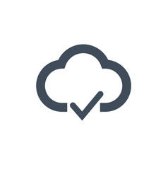 cloud with checkmark isolated vector image