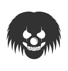 Clowny messy haired skull head logo symbol vector