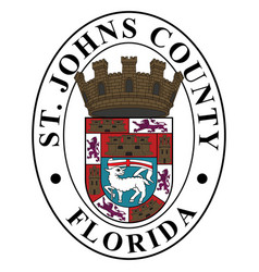 Coat arms st johns county in florida usa vector