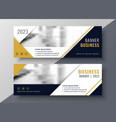 Corporate business banner design template vector