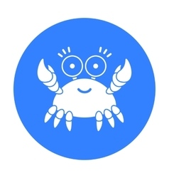 Crab black icon for web and mobile vector image