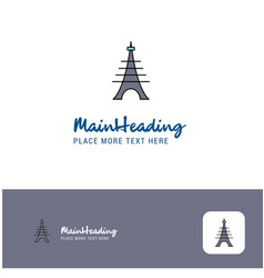 creative eiffel tower logo design flat color logo vector image