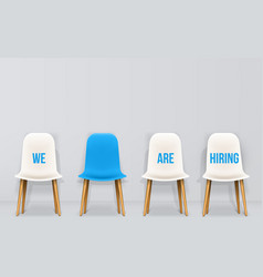 Creative of we are hiring vector