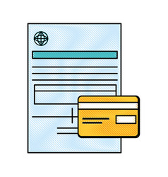 document contract credict card vector image
