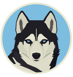 Dog collection siberian husky vector