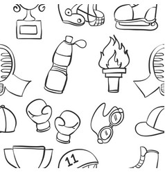 Doodle of equipment sport art vector