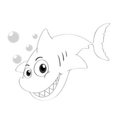 Drafting animal for shark swimming vector