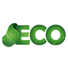 eco symbol with green leaf vector image