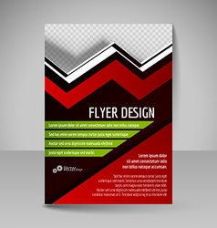 Editable A4 poster for design presentation vector image