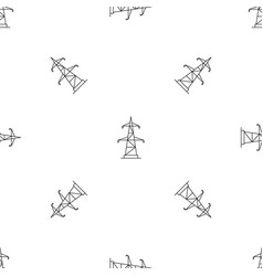 Electrical power station pattern seamless vector
