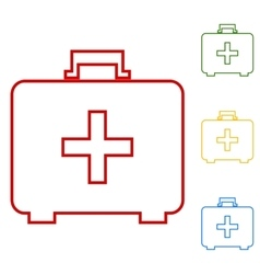 First aid box icon on white background vector