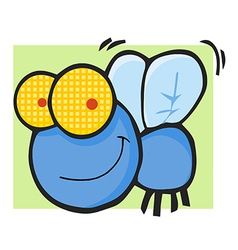 Fly Cartoon Mascot Character vector image