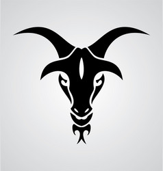 Goat Head Tribal vector