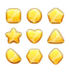 golden shapes set vector image