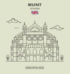 Grand opera house in belfast vector