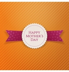 Happy mothers day realistic paper banner template vector