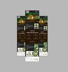 Health tree web site template vector