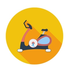 Icon exercise bicycle vector