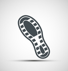 Icons shoe print vector