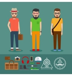 Last hipster flat style clothing vector