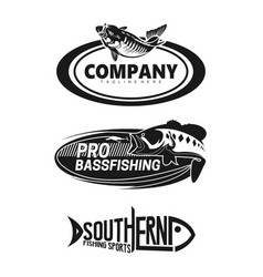 Logo set for brand fishing company vector