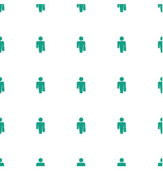 Man with case icon pattern seamless white vector