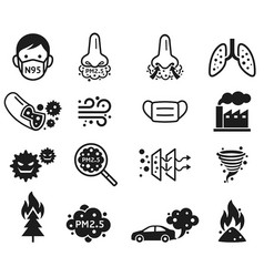 micro dust pm 25 icons vector image