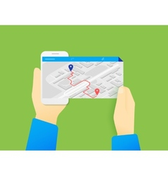 Mobile app for gps navigation vector image