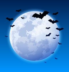 moon and bats vector image