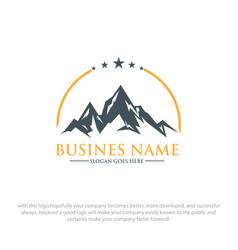 mountain logo designs vector image