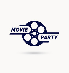 movie party emblem modern cinema sign vector image