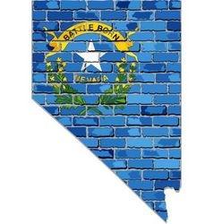 Nevada map on a brick wall vector