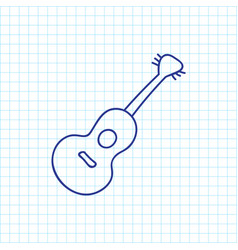 of trip symbol on guitar vector image