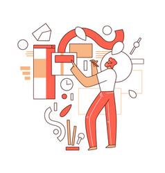online education flat concept - man vector image