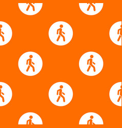 Pedestrians only road sign pattern seamless vector