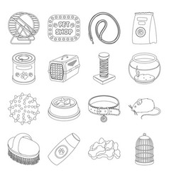 Personal computer accessories set icons in line vector